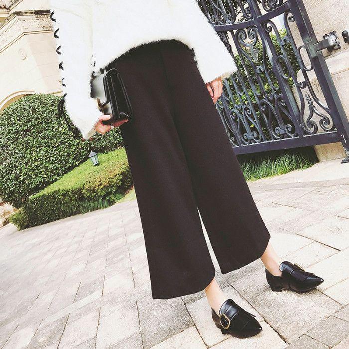 Culottes m. flade sko og stor sweater