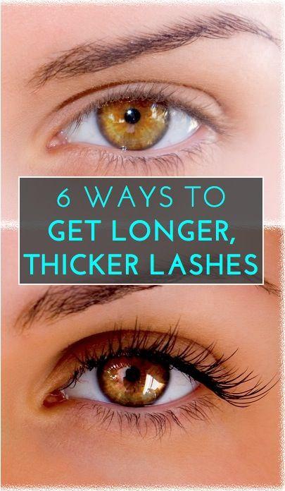 6 ways to get longer, thicker eyelashes