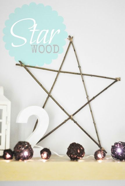Wood STAR xmas decoration http://patitolubi.blogspot.com/