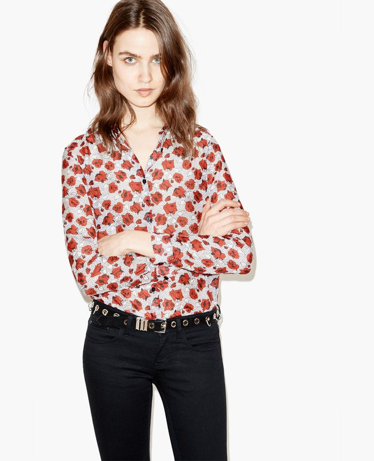 chemise dots roses the kooples fashioneries inaccessibles expansive desires pinterest. Black Bedroom Furniture Sets. Home Design Ideas