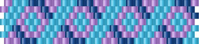 Brick Stitch Bead Patterns Journal: #4 Free Brick Stitch Pony Bead Cuff Bracelet Patte...