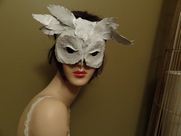 Paper Mache Owl Mask Costume Dreaming Of White Christmas