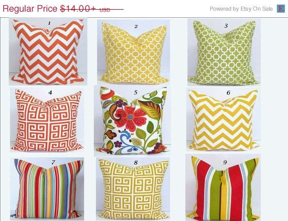SALE OUTDOOR Pillows.Covers.ALL Sizes.Decorative Pillows.Decor.Housewares.