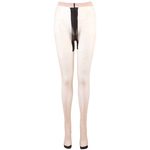 Latosha Black Contrast Seamer Tights ($3.94) ❤ liked on Polyvore featuring intimates, hosiery, tights, nylon pantyhose, nylon hosiery, nylon stockings and nylon tights