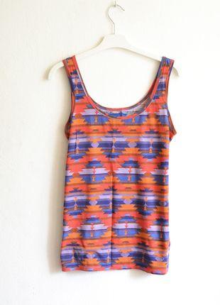 Kup mój przedmiot na #vintedpl http://www.vinted.pl/damska-odziez/koszulki-na-ramiaczkach-koszulki-bez-rekawow/9353617-koszulka-tank-top-na-ramiaczkach-aztec-aztecie-wzory-aztecka-luzna-kolorowa-letnia-cienka-oversize
