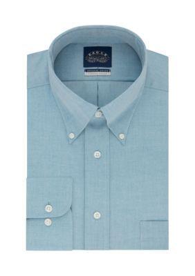Eagle Men's Big & Tall Non Iron Dress Shirt - Green Sea - 18.5 35/36
