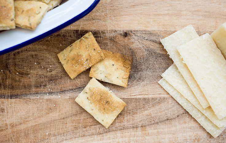 Rosemary & Sea Salt Crackers | Lighthouse Spring Baking