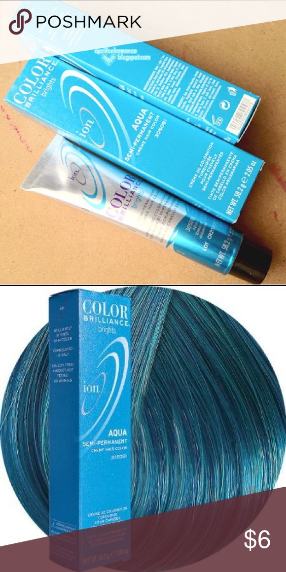Ion Hair Color in Aqua NEW IN BOX Hot Topic Accessories