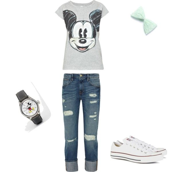 Cute 'n' casual by alison-jane-gairns on Polyvore featuring polyvore, fashion, style, Paul & Joe Sister, Frame Denim, Converse and Disney