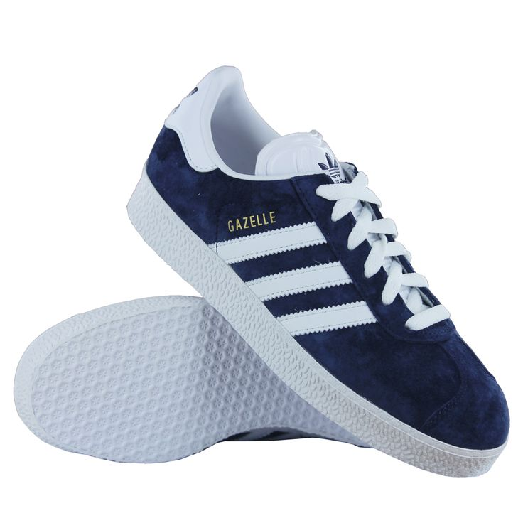 Details about Adidas Gazelle 2 Blue White Suede Leather Womens Trainers