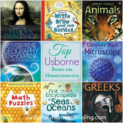 Top Usborne Books & More for Homeschooling - Using My Father's World, Sonlight, Tapestry of Grace, Well-Trained Mind, & Veritas Press.