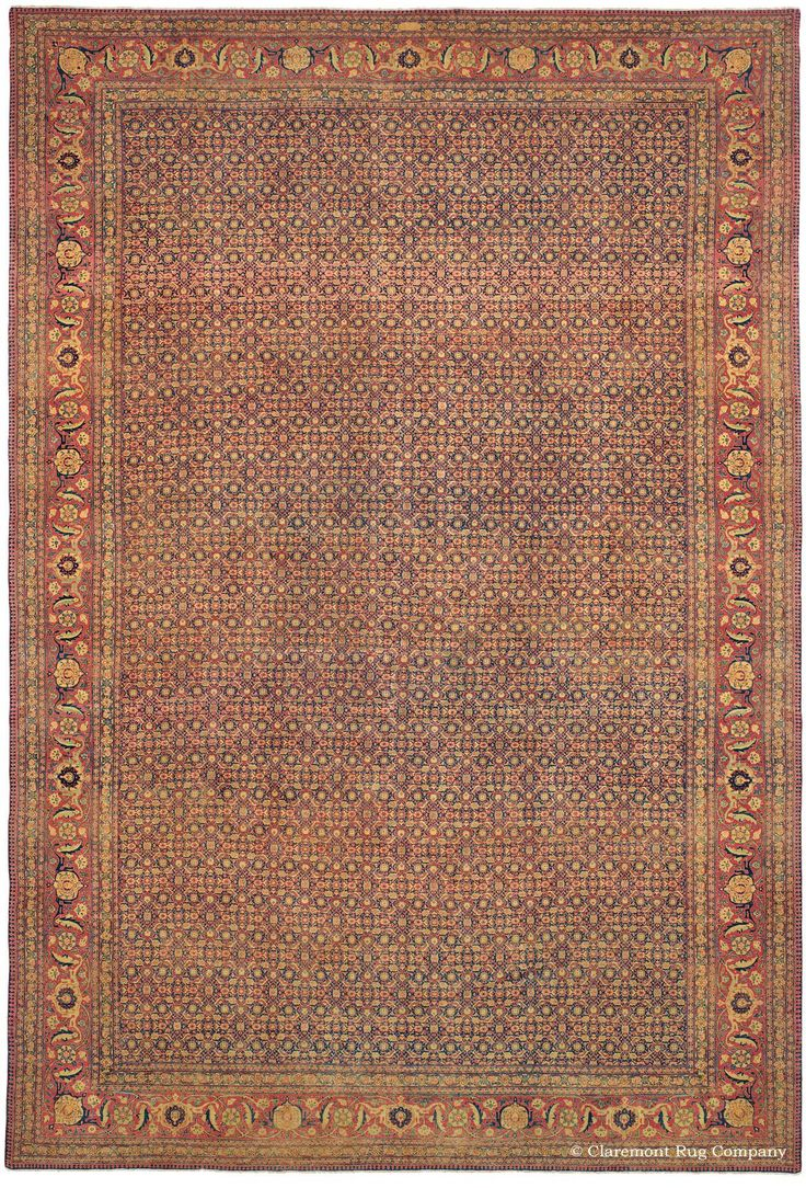 Tabriz Antique Oriental Rug With Allover Pattern