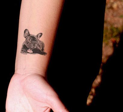 This French bulldog: | 68 Beautiful Temporary Tattoos You'll Want To Keep Forever