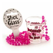 Bachelorette Party - Shot Glass - On Beaded String (Each)