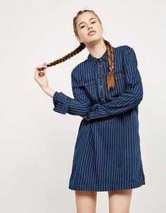 Vestito blu velluto bershka game