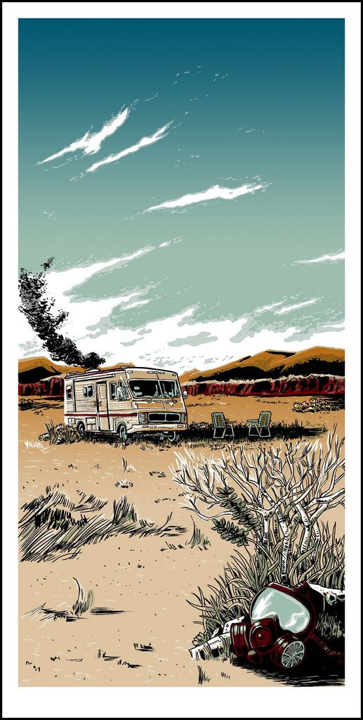 """The Cook"" Breaking Bad Art Print by Tim Doyle funny I'm watching this right now, new favorite show, supa funny"