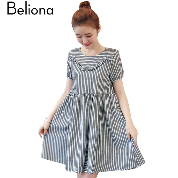 Fashion Stripes Maternity Dress Summer Maternity Clothes Casual Pregnancy Clothing for Pregnant Women 2017 Casual Dress #Affiliate
