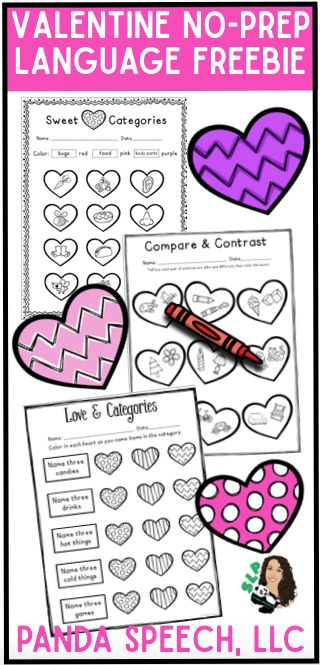 FREE Language Worksheets for Speech therapy or ELA