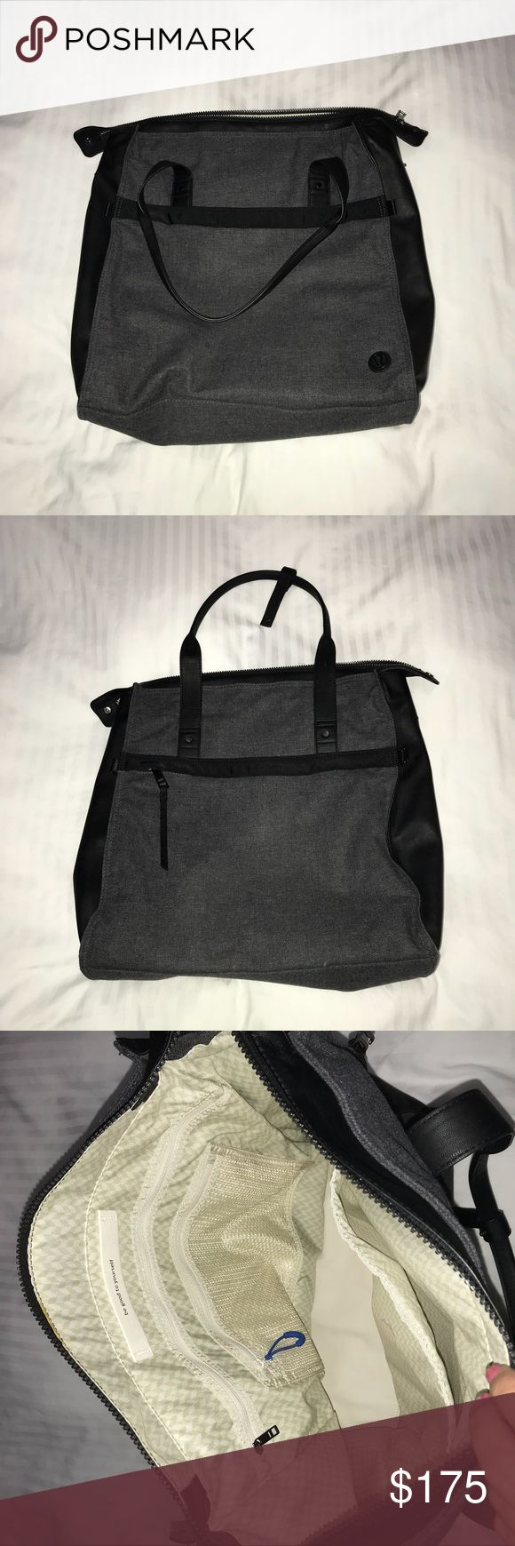 Lululemon Bag Perfect condition Lululemon bag. I bought it last year and just don't use it. In perfect condition. Last pic is for size reference lululemon athletica Bags