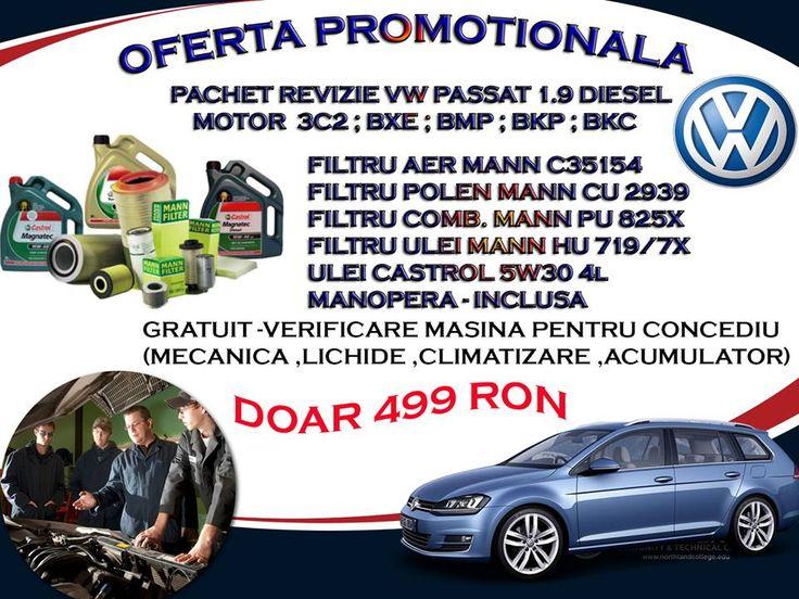 Pret Revizie VW Pasat 1.9 Diesel - 499 Ron