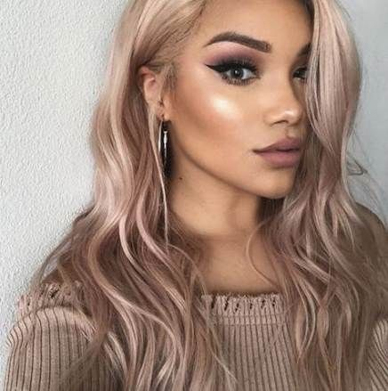 Hair coloration concepts for brunettes rose gold straight 62+ concepts for 2019