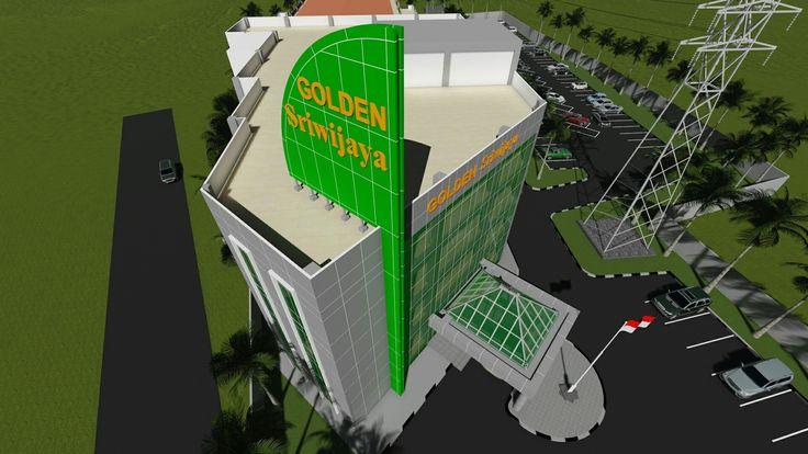 Bidang masip sirip. Melambangkan  Kejayaan golden sriwijaya yayasan bina husada palembang