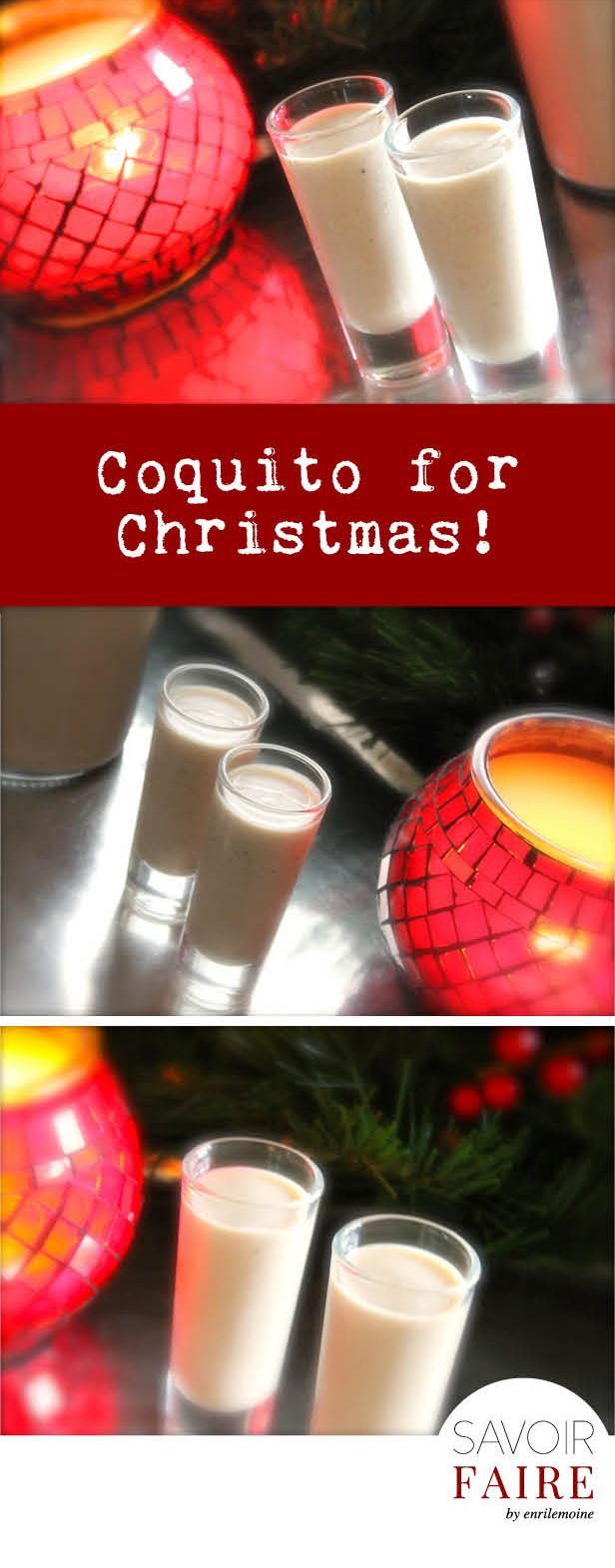 Coquito is to Puerto Ricans what ponche is to Venezuelans and eggnog is to Americans: a concoction made of milk, eggs, rum -of course- and spices with the delicious addition of coconut cream. I hope you like ti!