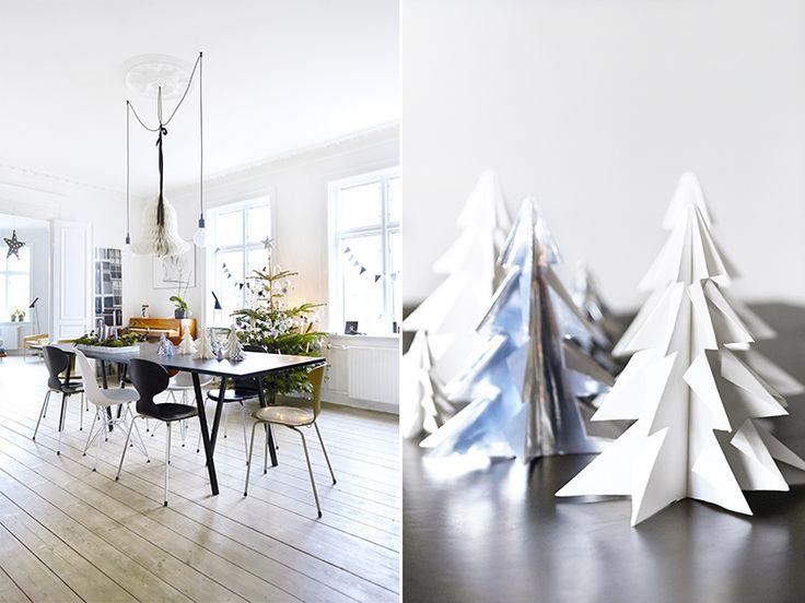 Pynter med papir - Personlig julepynt i klassisk leilighet - Bo-Bedre.no