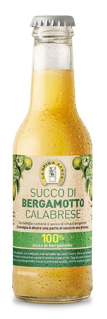 Design Etichetta succo puro di bergamotto calabrese (Prodotto da: La Spina Santa - Bova Marina - RC)