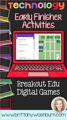10 Great Activities for Early Finishers in Technology  My students work at vastly different paces so it is always a challenge to decide what the early finishers should do. Here is a list of 10 great activities for your early finishers that aren't just tim