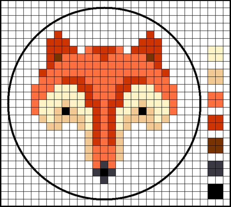 Fox cross stitch chart