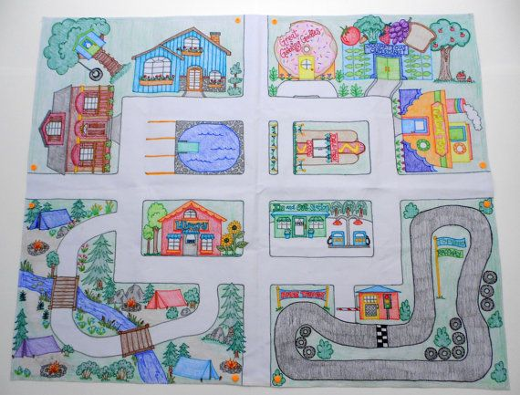 """Play Mat for Toy Cars: Mini Connectable Town 