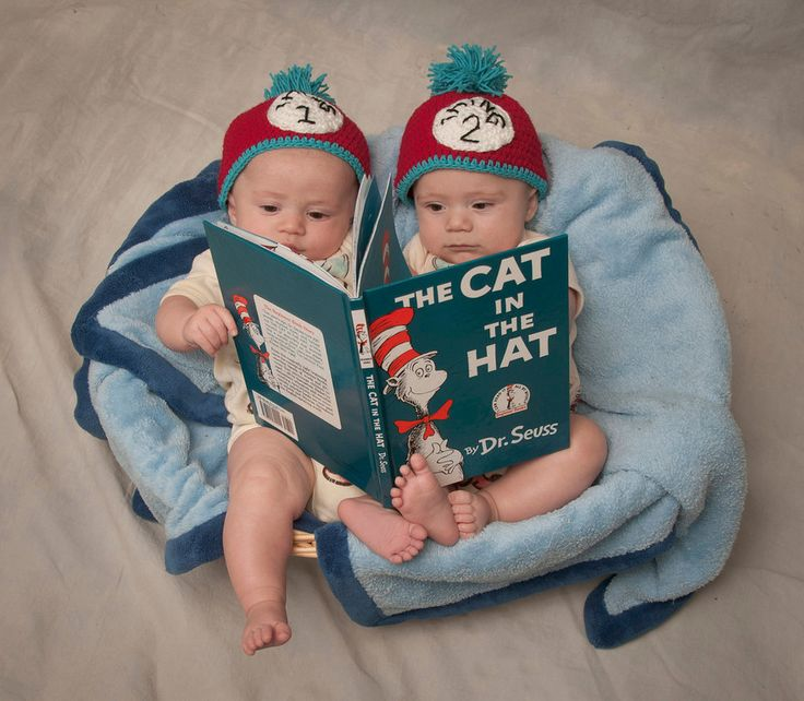 Thing one and Thing two - RJN Photography --twin poses - Cat in the Hat