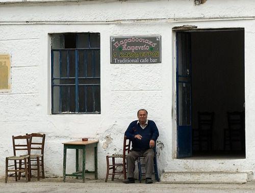 """~ Καφενες """"Ο ΚΑΚΟΠΕΤΡΟΣ"""" Πλατανιας - Χανια ~  """" !! Traditional """"Kafenio"""" Platanias Chania !!  """"  photo by Nikos-Chania"""