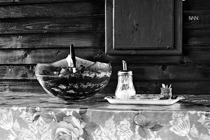 watermelon, salt, sugar, sticks and knife by Anton Nistor Nicolae