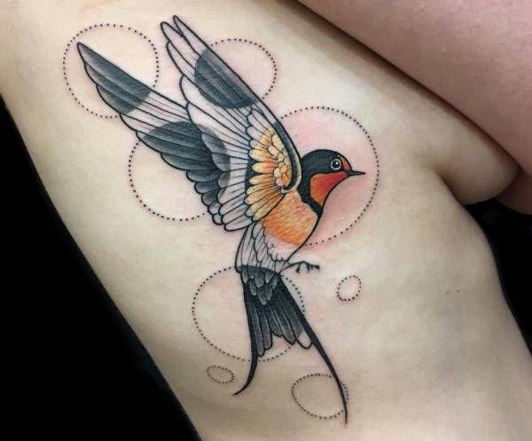 Tatuaż Jaskółką Znaczenie Historia 26 Zdjęć Pomysł Na