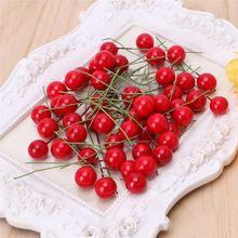 50 шт./лот мини пластиковые малый ягоды Искусственные цветы тычинки вишня перламутровые свадебные DIY подарочные коробки украшены венки(China (Mainland))