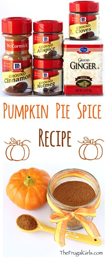 Pumpkin Pie Spice Recipe!  Spruce up your favorite Fall Pumpkin Recipes with this easy and delicious mix of spices... just 5 ingredients!!