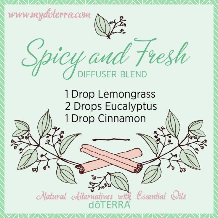 Essential Oil Diffuser Blend  Spicy & Fresh  doTERRA