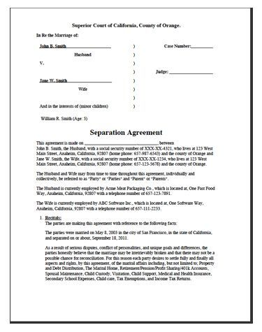 Printable Sample Divorce Template Form #divorcepapers Get a