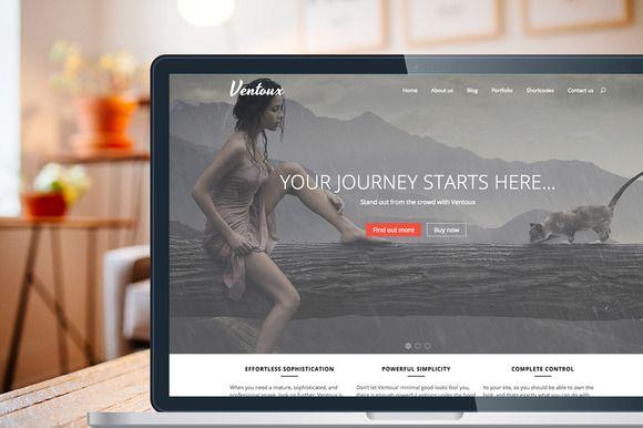 Ventoux - Premium Wordpress Theme by Vidal Themes on @creativemarket. Price $49 #wordpressbusinesstheme #wordpressportfoliotheme