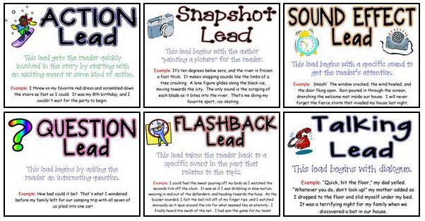 teaching narrative leads