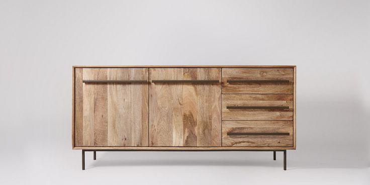Hamilton Mango Wood & Charcoal Sideboard   Swoon Editions