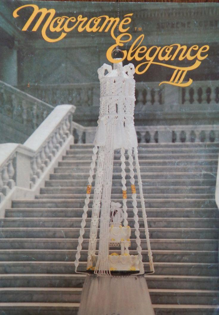 Macrame Patterns/Vintage Macrame Elegance lll 3/hanging table,plant…