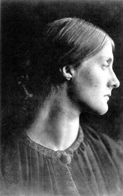 """Anthea"", lor Julia Duckworth, photographed by Julia Margaret Cameron, a friend of my great grandfather, E.W.OBrien, who had a rare copy of this photo. E.W.OBrien was the father of Dermod OBrien who did the drawings of theStephen family  on this board"