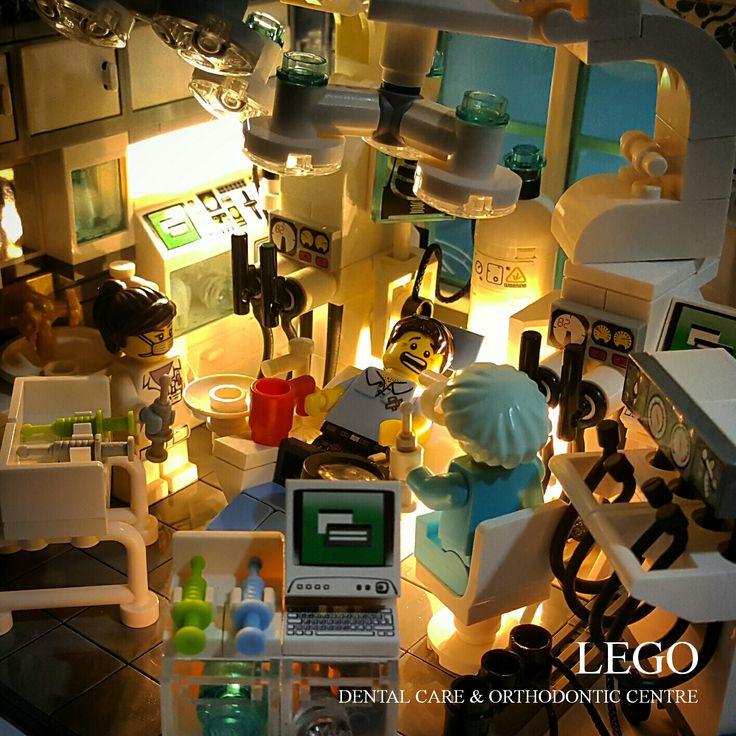 """LEGO Vignette 16x16: """"LEGO Dental Care & Orthodontic Centre"""""""