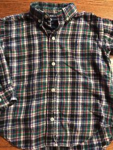 Polo, Ralph Lauren Toddler Boys Size 2T Plaid Long Sleeve Flannel Shirt  | eBay