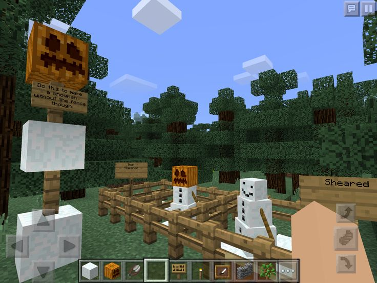 How to make a snowman in Minecraft PE! Make a snowman