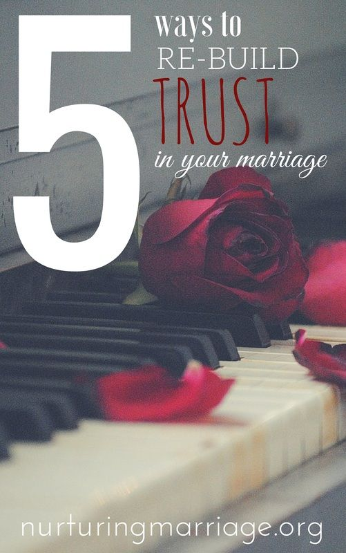 5 Ways to Re-Build Trust in your Marriage - What should you do if trust has been compromised in your marriage? Is all lost? Of course not! Don't lose hope. While it may take significant time and effort, trust can be rebuilt and your marriage can get back on track. The following 5 suggestions may be very helpful in helping you rebuild trust in your marriage.