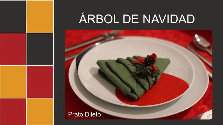 Aprende una manera sencilla de decorar tu mesa de Navidad doblando la servilletas como si fuera árbol de Navidad Suscríbete el canal ► http://bit.ly/pratodil...